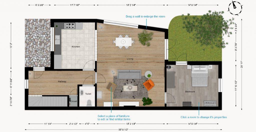 Lakás alaprajz tervező