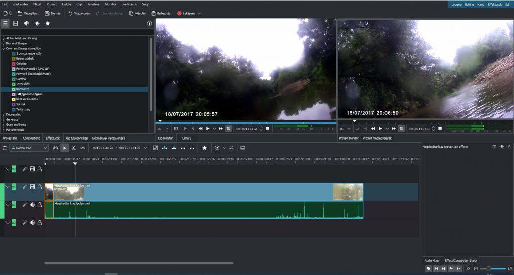video szerkesztő